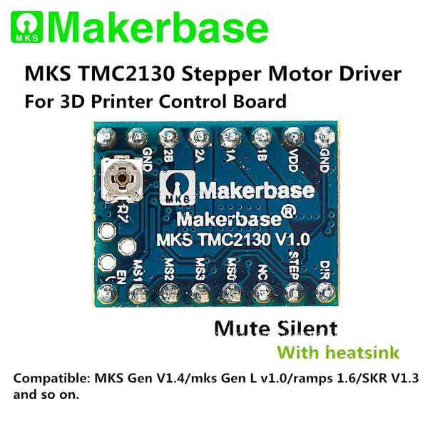 TMC2130 V1 0 Stepper Motor StepStick Mute Silent Driver with Heatsink for  3D Printer Control Board 4 Packs