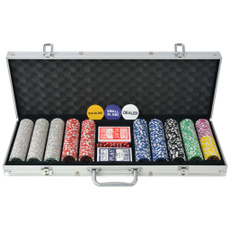 Pokerkoffer Pokerset 300 Chips Laser Pokerchips Poker Set Jetons Alu Koffer Schw