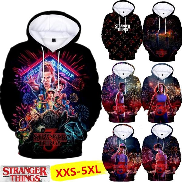 3D hoodies, hoodies for women, pullover hoodie, strangerthings3