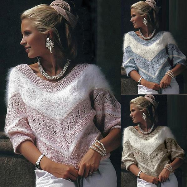 women pullover, Women Sweater, Knitting, Winter
