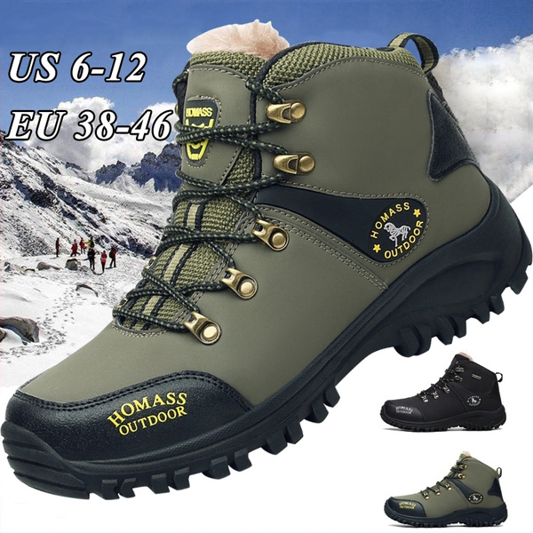 shades of great look sneakers Snow Boots for Men Hiking Boots Men's Winter Warm Waterproof Boots Outdoor  Sports