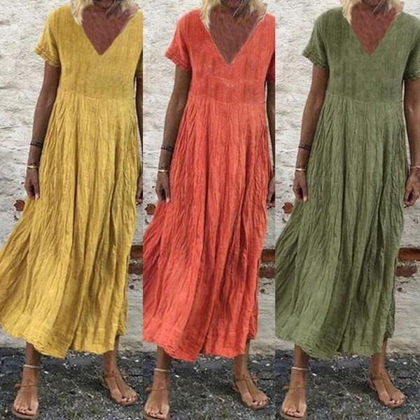 damenkleid, Shorts, tunic, plaincolordres