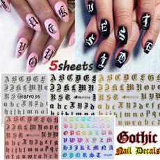 nail decals, art, gold, Beauty