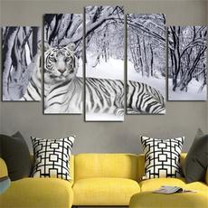 art, Wall, Modern, Snow