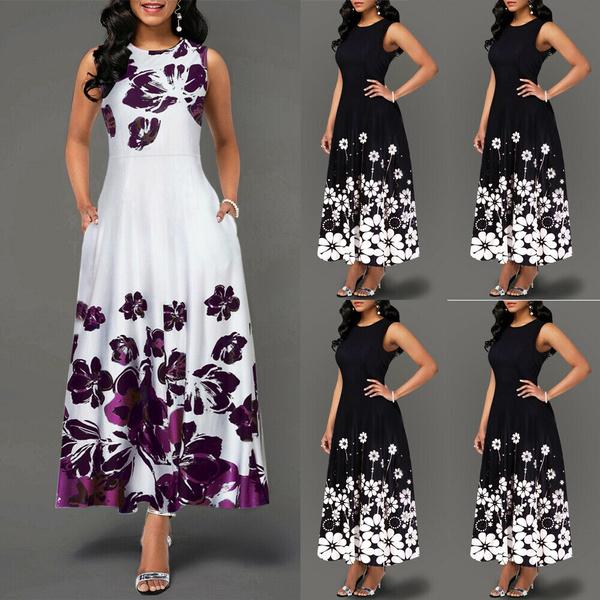 Summer, tunic, long dress, Vintage