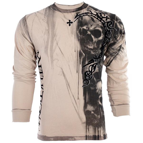 tattoo, Fashion, Cotton T Shirt, skull