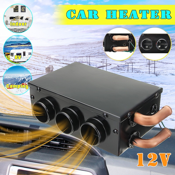 US 12V 24W Car Vehicle Heater Defroster Demister Portable 3 Hole Heating