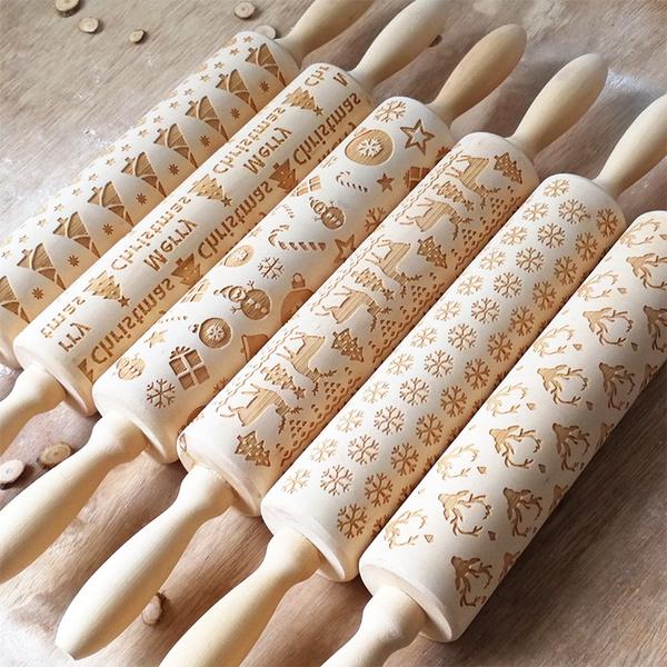 biscuitsmold, Baking, woodenrollingpin, doughrollingpin