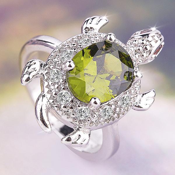 Turtle, DIAMOND, animalring, Jewelry