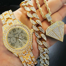 Necklace, Bracelet, hip hop jewelry, jeweleryampwatche