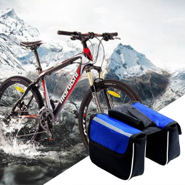 Bike Bicycle Cycling Outdoor Front Frame Pannier Frame Tube Handlebar Bag Pouch