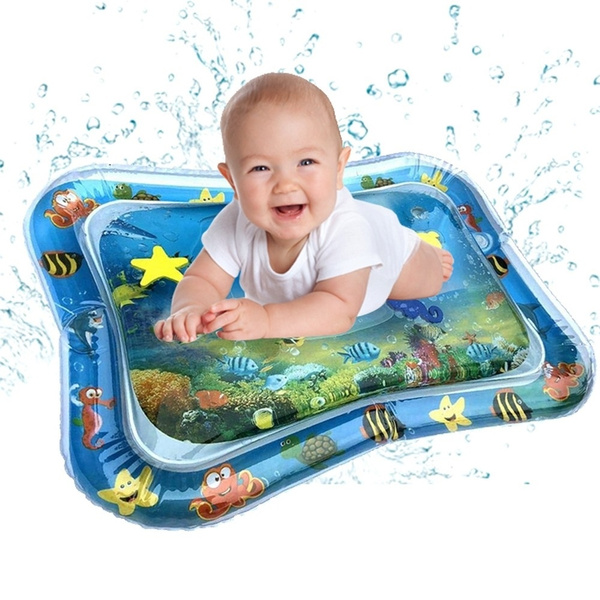 Inflatable Water Play Mat Infants Toddlers Tummy Time Play Fun Activity Center