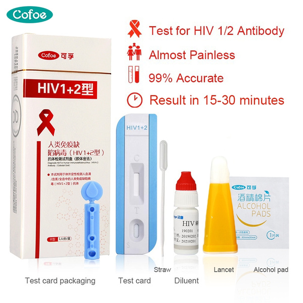 New Hiv Virus Test Kit Rapid Hiv Test Paper 1 2 Aids Medical Aids Test Supplies At Home Self Check