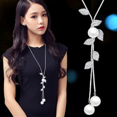 Sterling, Chain Necklace, Fashion, leaf