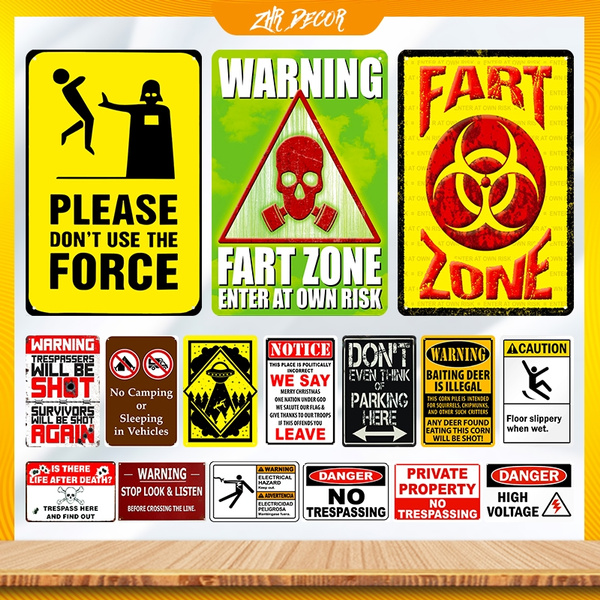 Warning Tin Sign PRIVATE PROPERTY Poster Vintage Metal sign HOME BAR DECOR