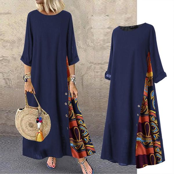 damenkleid, Plus Size, randomfloraldres, Dress