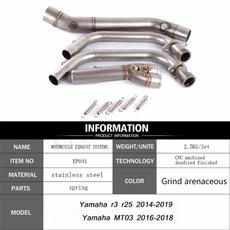 yamahamt03exhaustsystem, yamahamt03, Yamaha, motorcycleexhaustmiddlepipe