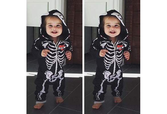 Halloween Junior Skeleton Union Suit//Sleeper//Costume Falls Creek