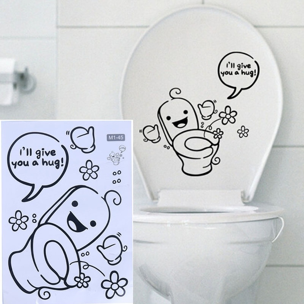 Home Decoration Funny I Ll Give You A Hug Toilet Stickers Washing Bathroom Stickers Wish