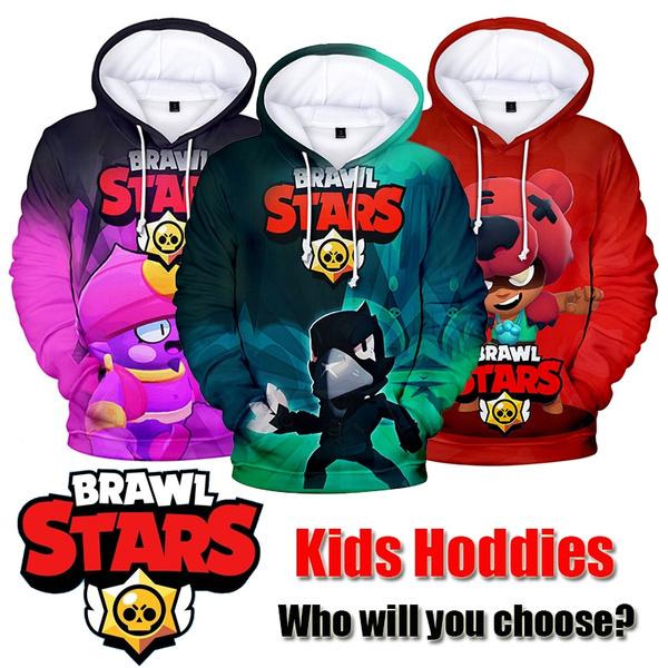 2020 Brawl Stars Kids Funny 3d Print Sweatshirt Teen Boys Girls Hoodies 1 14y