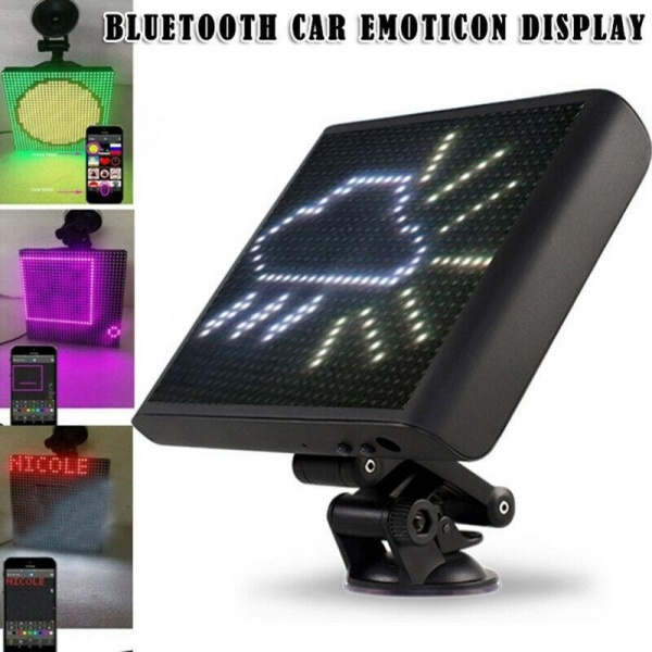 Wireless Bluetooth App Controlled Car Emoji Emoticon Animated LED Display Screen