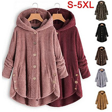 Casual Jackets, Fleece, Winter Coat Women, fur