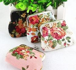 Mini, Flowers, miniwallet, Vintage