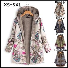 Plus Size, fur, Winter, Sleeve