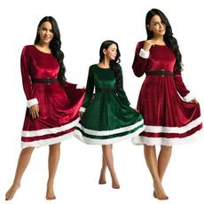 xmaspartydres, Christmas, Sleeve, long dress
