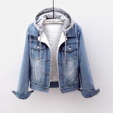furcollarcoat, Jeans, Fleece, Fashion