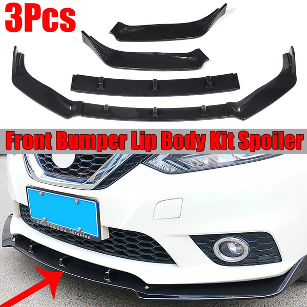 3pcs Car Front Lip Chin Bumper Spoiler Splitters Body Kit Detachable For Nissan Sentra 2016 2017 2018 2019