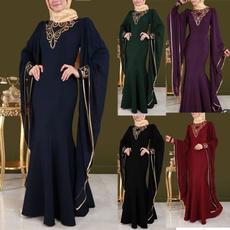muslimabayadre, Plus Size, Sleeve, Elegant