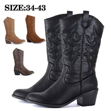 midcalfboot, cowgirlboot, Cowboy, leather