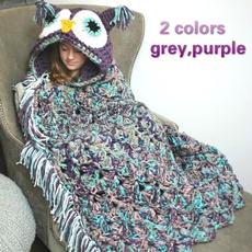Owl, hooded, babyblanketfleece, Gifts