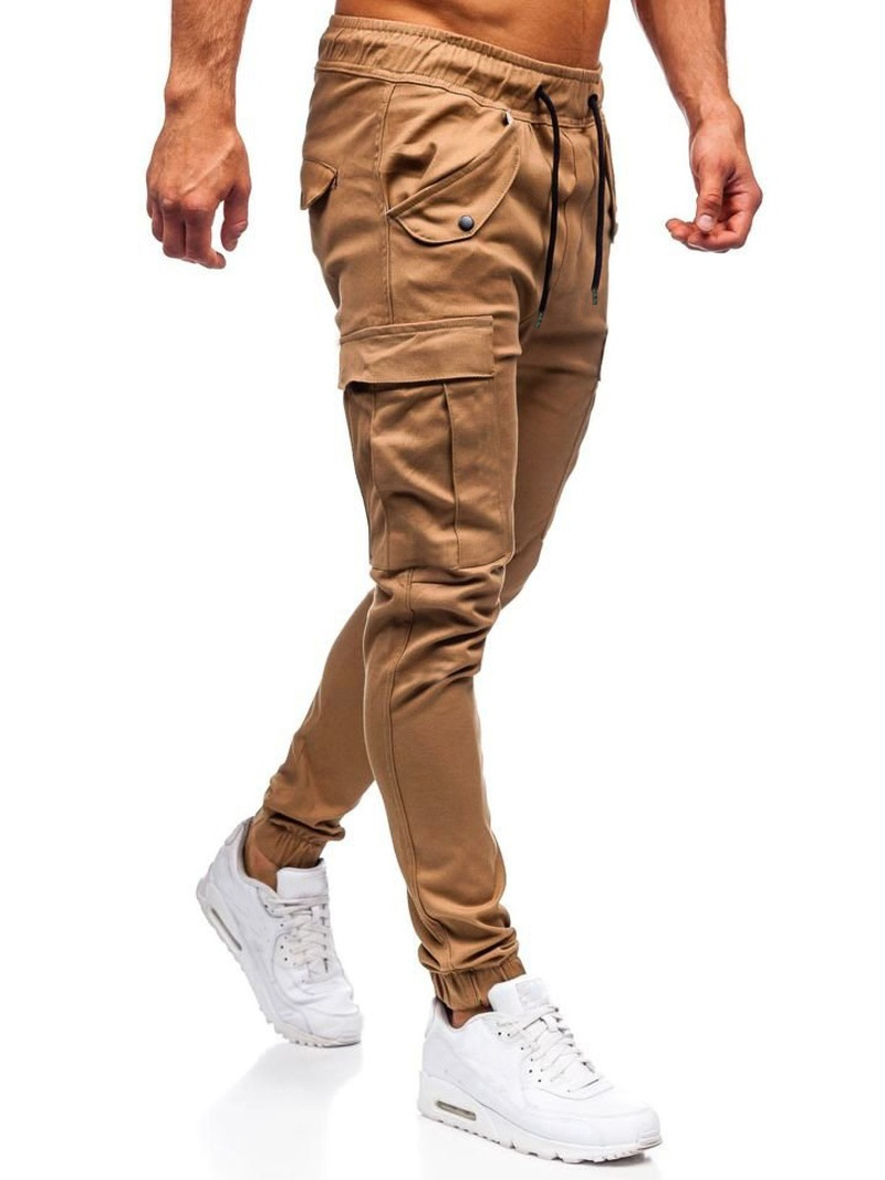 Men's Fashion Casual Slim Solid Color Casual Trousers
