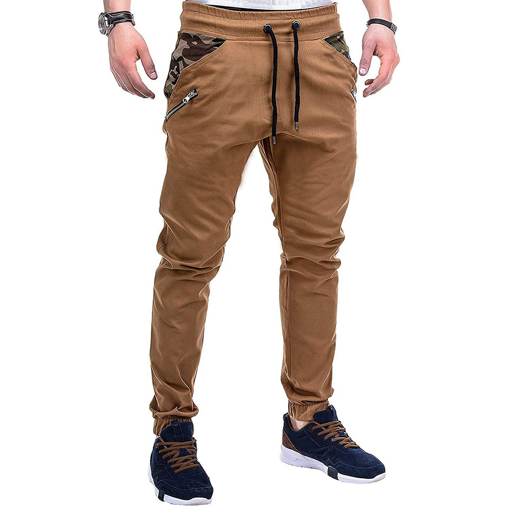 Men's Fashion Casual Slim Camouflage Stitching Casual Trousers