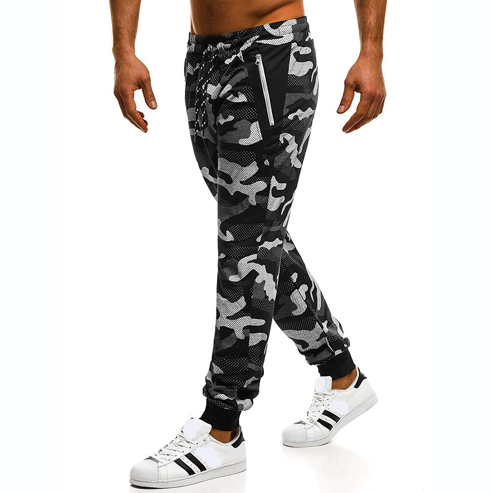 Men's Fashion Casual Slim Camouflage Pants, Sports Trousers