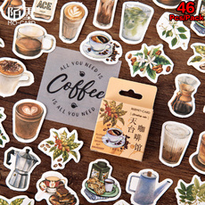 Decorative, minidecal, Coffee, scrapbookingsticker