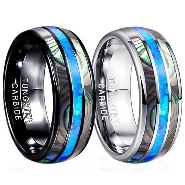 Steel, 8MM, tungstenring, polished