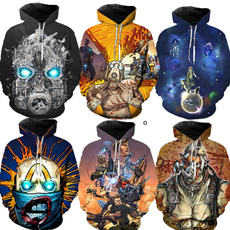 3D hoodies, Fashion, Sweatshirts, borderlandstshirt