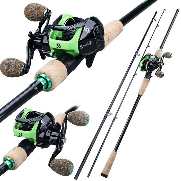 Sougayilang Fishing Rod Reel Set 1.8M 2.1M 2.4M Baitcasting Combo