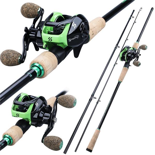 Sougayilang Fishing Rod Reel Set 1.8M 2.1M 2.4M Baitcasting Combo
