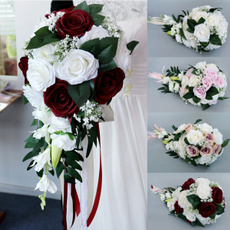 Bridesmaid, roseholdingflower, artificialweddingbouquet, wand