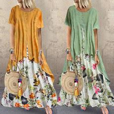dressesforwomen, Floral print, Sleeve, sundress