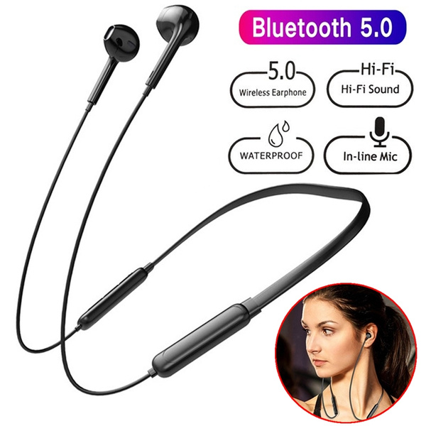 Bluetooth Headphones Neckband Wireless Headset Noise Cancelling Stereo Earbuds Sport Sweatproof Earphones With Mic For Iphone Android Phone Wish