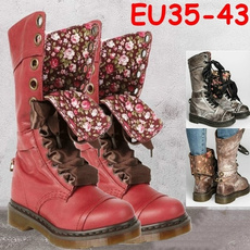 ankle boots, Plus Size, Leather Boots, Invierno