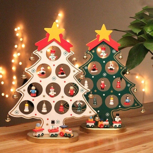 Diy Christmas Ornaments As Gifts.Diy Christmas Ornament Wooden Christmas Tree Christmas Hanging Ornament Gift For Children Home Xmas Table Decoration