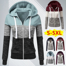 Plus Size, Hoodies, Sleeve, sweater coat