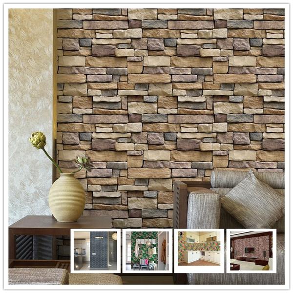 (size:45cm*10m)-fashion-3d-brick-wall-sticker-bedroom-kitchen-bathroom-self-adhesive-3d-wallpaper-sticker-tile-home-decor by wish