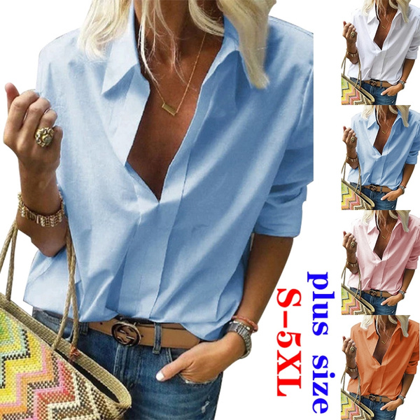 Plus Size, Shirt, Sleeve, Women Blouse